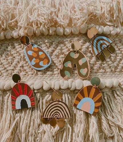 Boja Leather Statement Earrings