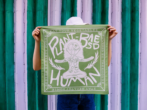 """PLANT-BASED HUMAN"" BANDANA (AVAILABLE IN TREEHOUSE ONLY)"