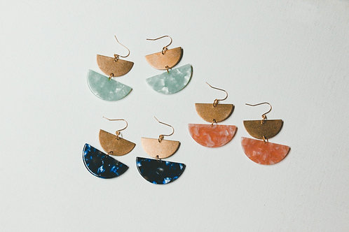 Gaia Drop Statement Earrings