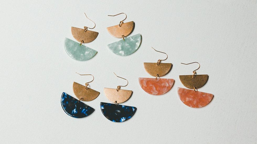 Gaia Drop Statement Earrings