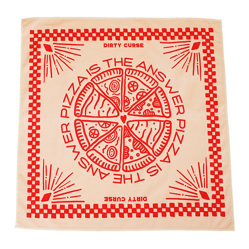 """PIZZA IS THE ANSWER"" BANDANA"