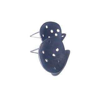 blued pierced concave earrings