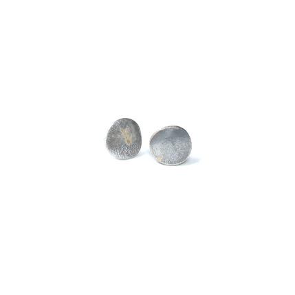 small rustic circle earrings
