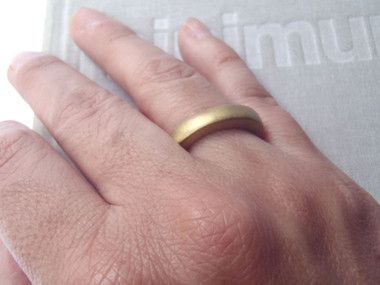 brass round irregular thick solid ring