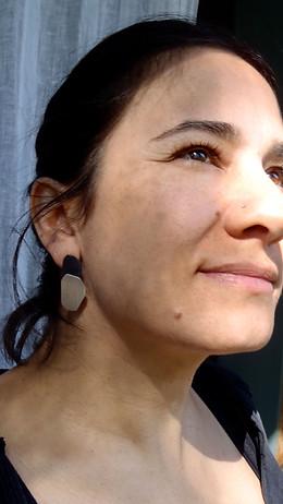polygon beetle earrings