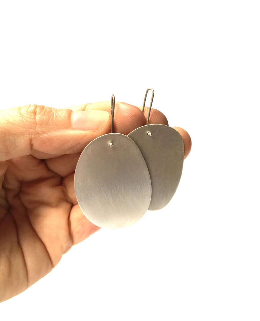 extra large polygon earrings