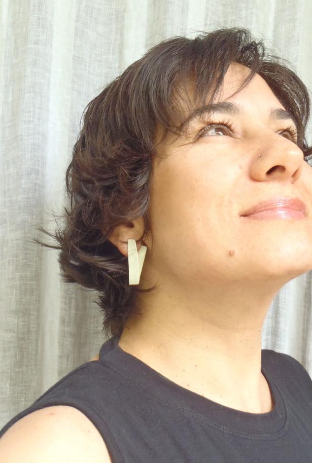 bend long origami earrings