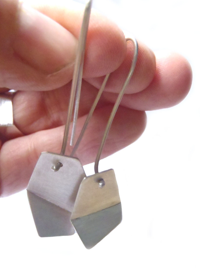 long drop origami earrings