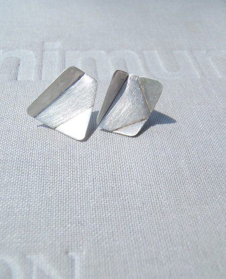Origami mismatched stud earrings!