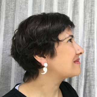 dangle dot and comma earrings