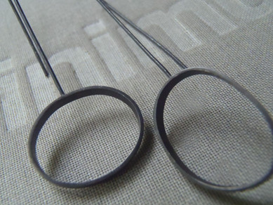 long oval mismatched bezel earrings