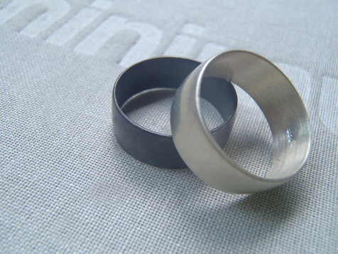 wide half round rings