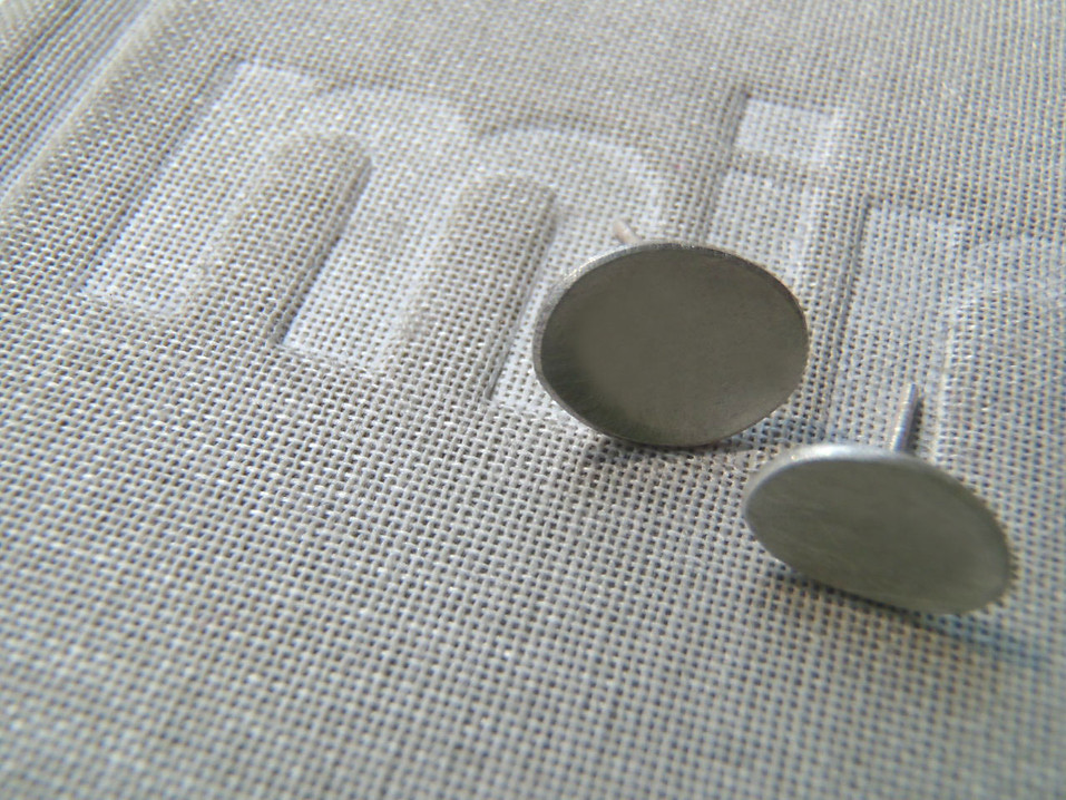 tiny concave stud earrings