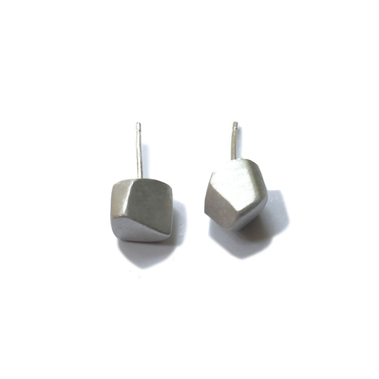 small solid polyhedron earrings