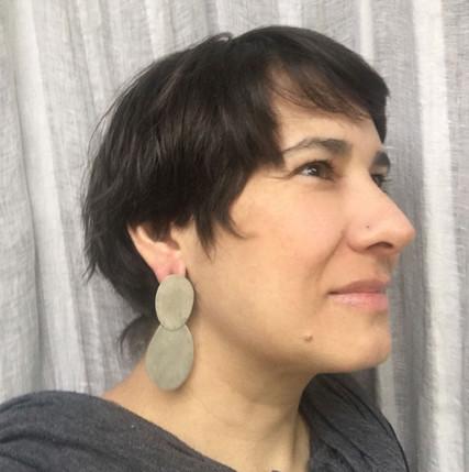 oversized double textured earrings