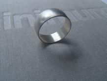 anillo ancho media caña mate