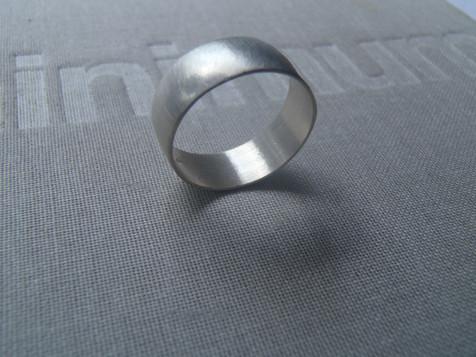 wide half round ring