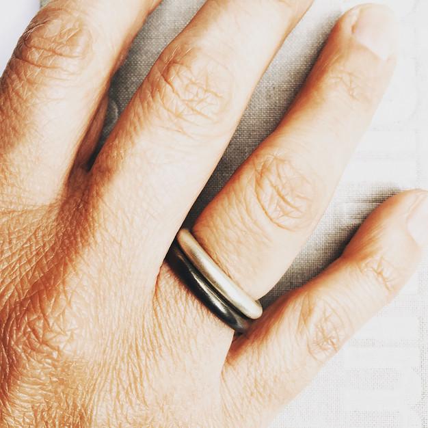 anillos dona en mate y pavonado