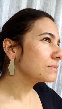 oversized polygon earrings