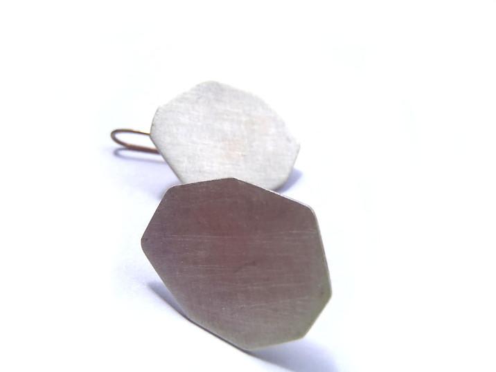 medium polygon hook earrings