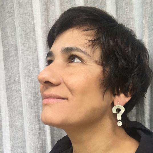 dangle question mark earrings