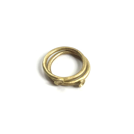 brass micro-concave rings
