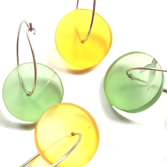 Colourful resin hoops, 2 sizes available!