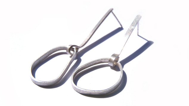 long oval movement earrings