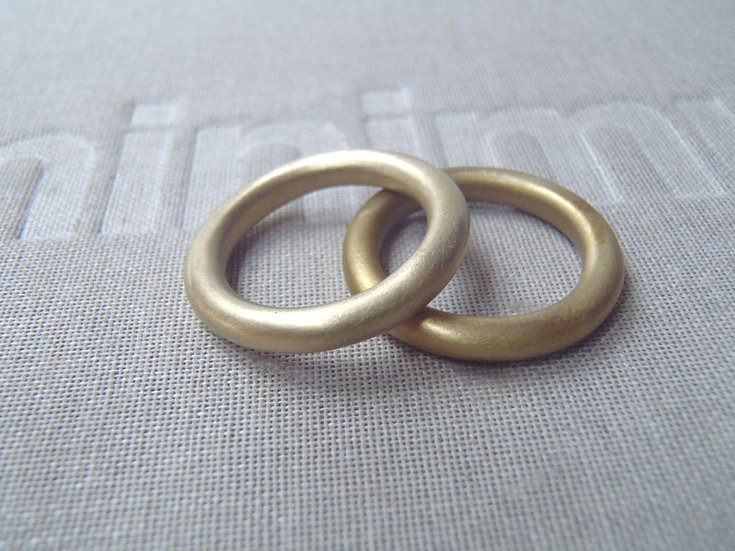 Solid brass donut rings!