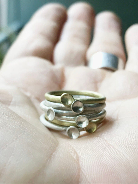 micro-concave rings in mixed metals