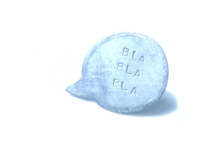 Blah blah blah design pin!