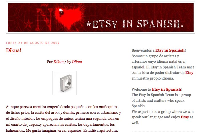 etsy in spanish blog