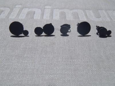 blacked constellation earrings set