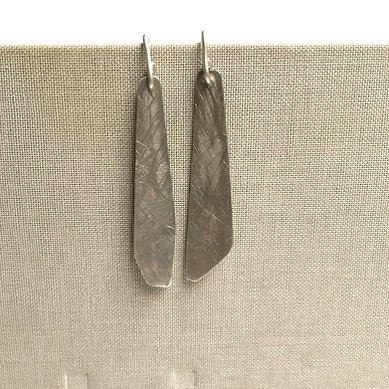 asymmetric irregular textured earrings
