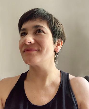 double uneven geometric wire earrings