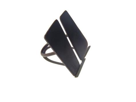 anillo planos paralelos pavonado