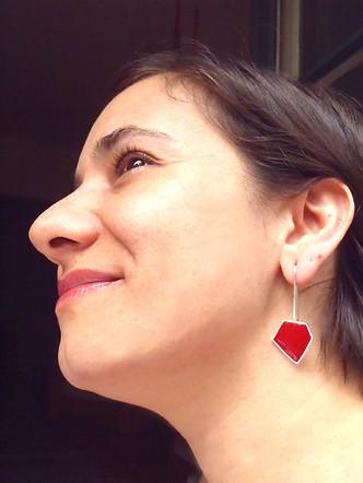 silver + resin polyhedron earrings 03