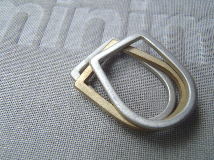 metal mix slim bezel U rings