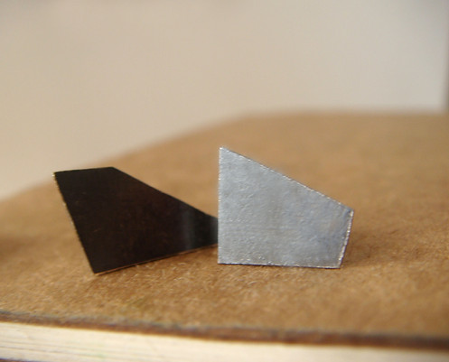 polygon earrings post silhouettes