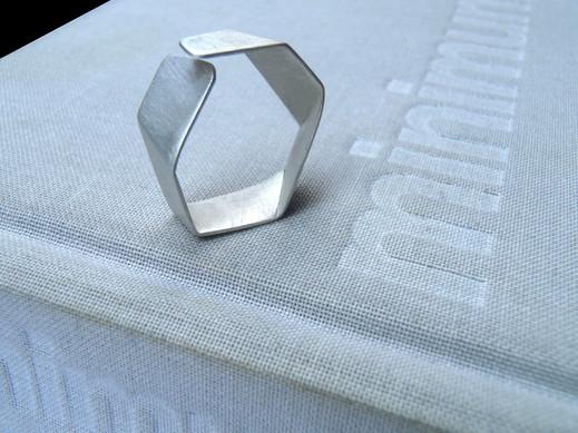 slim origami open ring