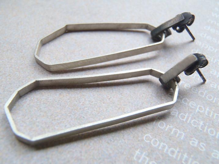 polygon empty triangle earrings