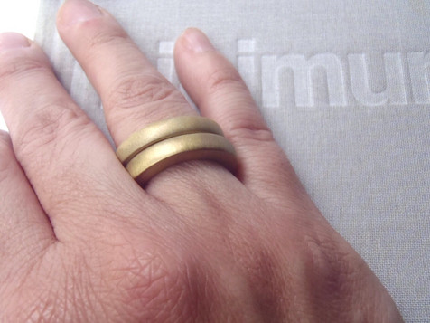 brass round irregular thick solid rings