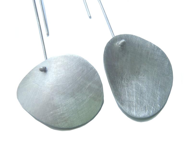 asymmetric amorphous earrings