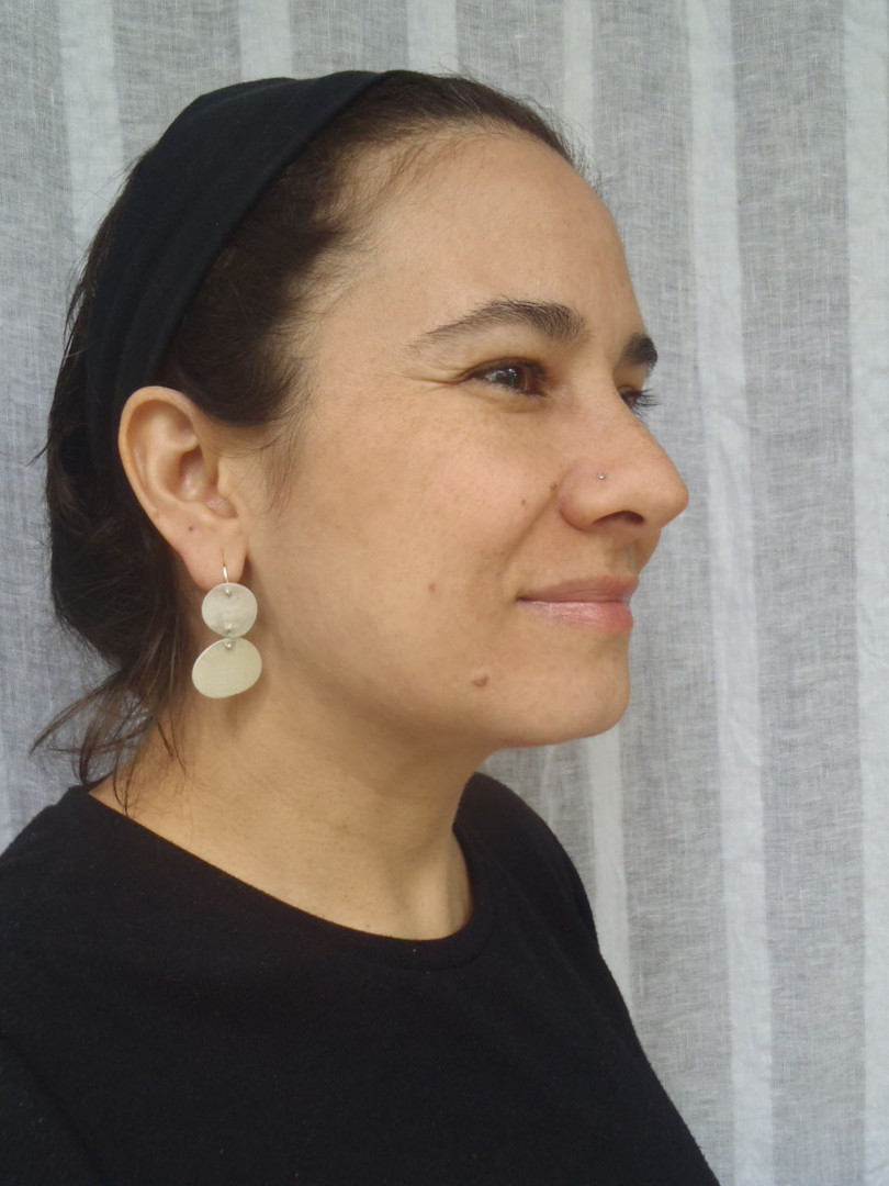 articulated abstract mismatched earrings