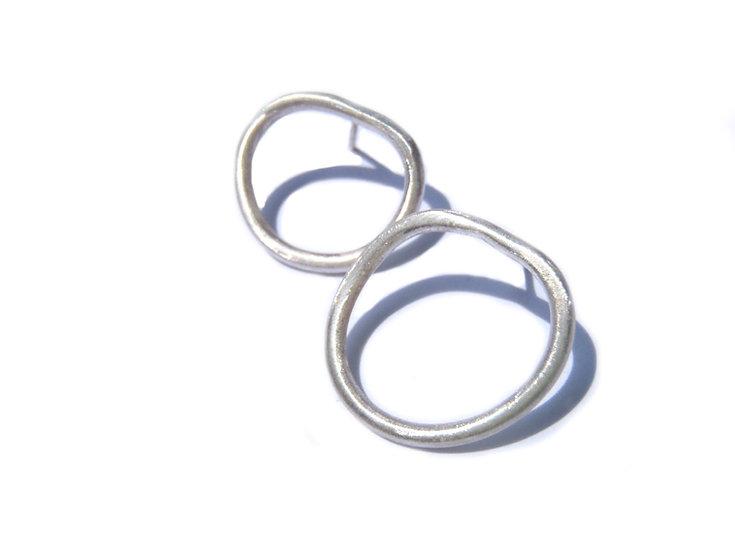 Small irregular Round asymmetric earrings!
