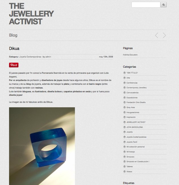 the jewellery activist blog