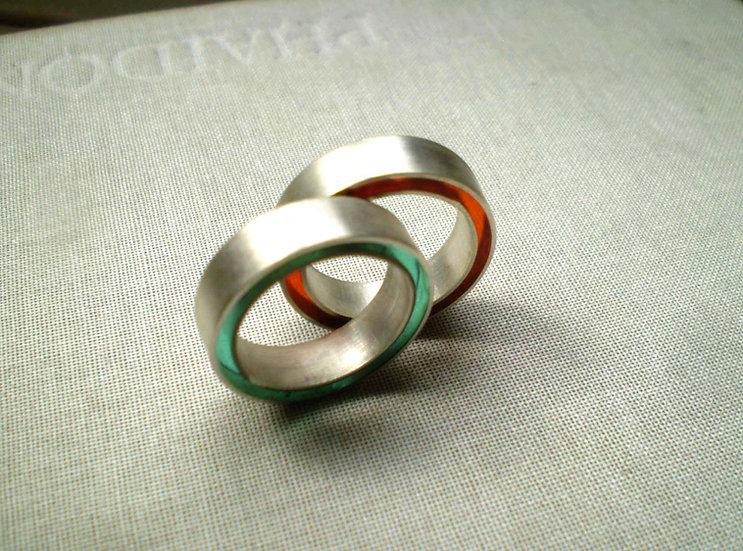 Anello concentrico d'argento e resina!