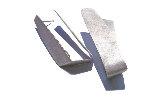 folded origami earrings
