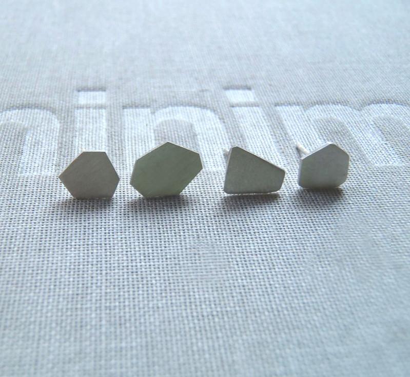 micro polygon earrings set