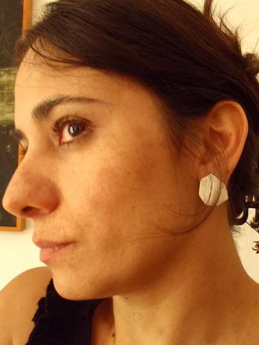 medium polygon post earrings